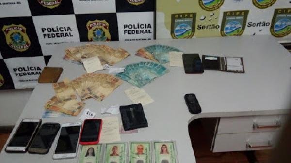 PF prende grupo acusado de aplicar golpe contra a Caixa Econômica em Santo Estevão
