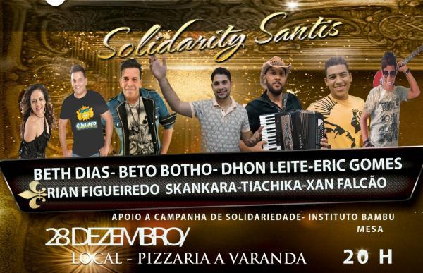 Oito atrações comandam evento beneficente nesta quinta (28), na Pizzaria A Varanda, em Santo Estevão