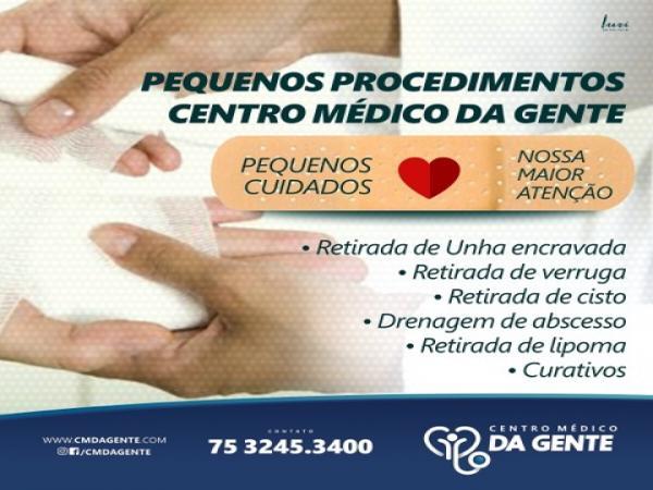 Conheça os serviços de pequenos procedimentos do Centro Médico da Gente